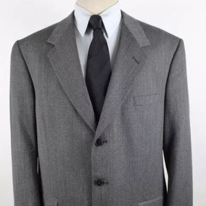 Perry Ellis Portfolio 44L Wool Gray Blazer A58